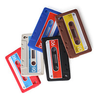 Wholesale Cassette Style Silicon Soft Back Cover Case For iPhone S