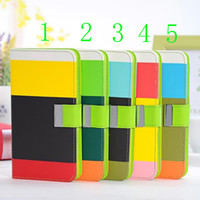 PU For Samsung  Multicolor PU leather Wallet Credit Card Slots With stand case For Samsung Galaxy note 3 N9005 N9000 case