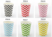Wholesale 2160PCS PACK OZ Chevron Stripe and Paper Cups Colours You Can Pick Paper Party Supplier via DHL FEDEX EMS