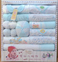 Wholesale The set of baby set the newborn baby gift box clothes to keep warm baby cotton clothing