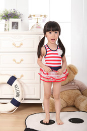 Wholesale 2013 new children s swimwear swimwear girls Bikini striped swimsuit F18
