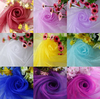 organza fabric - 10rolls New arrival CM widthX110M Long Wedding voile dropback Drapes Swage Decoration Organza Fabrics color u pick