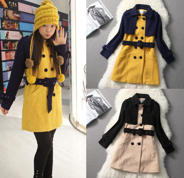 wholesale store clothing ladies big size coat P-k1361 black