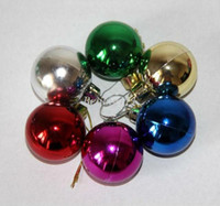 Wholesale cm Christmas balls ornaments Christmas tree ornaments christmas decorations plastic clear