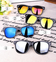 Wholesale 10 High quality Fashion Cool Anti Reflective Unisex glasses Sunglasses Classic Goggles Outdoor sports driving