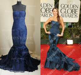 Wholesale 2016 New Sexy Ruffle Tulle Mermaid Strapless Sleeveless Floor Length Celebrity Dresses