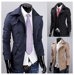 Free Shipping - Men's new fashion Slim trench coats short coat trench coats 00-F503