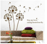 Wholesale Removable HD Dandelion Flower Tree in the wind Wall Sticker Art Mural Wall Decal