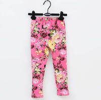 Wholesale Velvet Leggings Children Clothes Skinny Pants Girls Cute Flower Tights Kids Clothing Long Trousers Winter Pants Children Leggings Tights