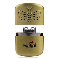 Wholesale Bronze Outdoor Ultra Slim Thin High Quality Bee Pattern Design Portable Pocket Handy Hand Warmer