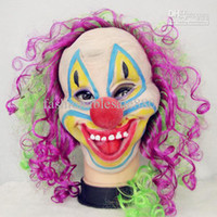 Wholesale Halloween Party Clown Mask Colorful Hair Clown Masks HI RXC