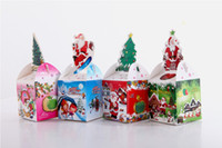 Wholesale Christmas Gift Box Packing Foldable Paper Box Red Green Blue Yellow Candy Boxes Mix Order Fast Ship by Fedex UPS DHL