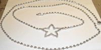 Wholesale 2013 Hot Selling Sexy Belly Pentacle full crystal Body Chain Simple Beach Necklace Party Jewelry DZ BD29