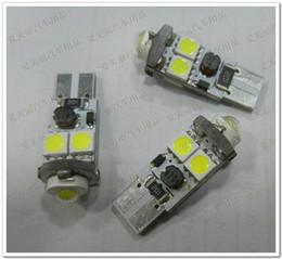Free Shipping 30pcs Error Free T10 Canbus W5W 194 5050 4 SMD + 1 LED Light Bulbs 5 led warning canceller auto led bulb