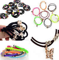 Mexican pony hair - 70pcs Fashion Mix Pony Tail Holder with Beads Charm Hair Jewelry Head Band Hairband U Pick JH01040 JH01043
