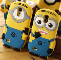 Silicone For Samsung Colorful 3D Cartoon Despicable Me Soft Silicon Silicone case cover skin for Samsung Galaxy Note III Note 3 N9000