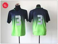 Football Men Short Newest Seahawk Jerseys #3 Quarterback Russell Wilsons Sportswear Popular American Football Jerseys Contrast Color Cheap Outdoor Sport Shirt