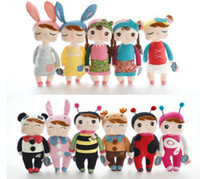 Wholesale cm Lovely Stuffed Cloth Doll Plush Toy Metoo Rabbit Doll Angela Christmas Girl Birthday Gift L321