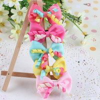Wholesale Side Clip Cute Princess Barrettes With Bowknot Children Accessories Girls Hair Clips Fashion Headwear Baby Hair Accessories Toddler Bows cxz