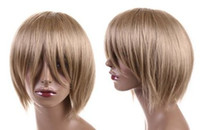 Cheap 30cm short straight Party heat-resist Cosplay Wig Ash Blonde