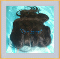 Wholesale 5 inch Way Part Lace Closure Bleached Knots A Grade Brazilian Body Wave Virgin Hair Lace Top Closure Unprocessed Human Hair Closure
