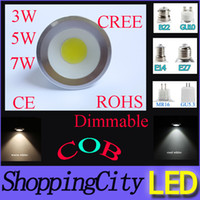 SAA CREE MR16 GU10 E14 E27 GU5. 3 E26 COB dimmable LED spotli...