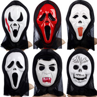 Wholesale with tracking number Costume party supplies Halloween masks Ghost masks screaming skull a face mask
