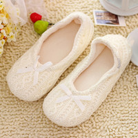 other Women  At home slippers autumn and winter cashmere thermal knitted socks, shoes cashmere yarn