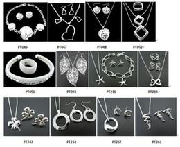 Envío libre con el número de seguimiento Joyería encantadora de la mezcla de la plata 12 de la joyería 925 de las nuevas mujeres de la manera fijada