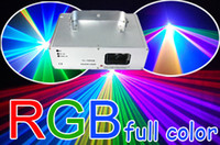 Wholesale 800mW RGB Full Color Beam Show DMX Stage Disco Xmas Christmas Party Gift RGB Laser Light