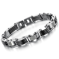 Wholesale 30181 Top Quality Fashion Men Titanium Steel Chain Bracelet