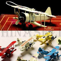 Metal toy glider airplane - World War I biplane glider metal bunk aircraft model airplane aeroplane toy shoot props bar furnishings accessories ornaments crafts model
