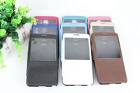 Leather For Samsung For Christmas new offical skin view window flip leather case cover skin shell for Galaxy Note3 III N9000 note 3 thin fashion case