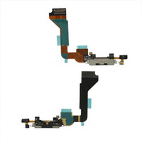 For Apple iPhone For iPhone 4S  50PCS X Replacement Black Dock Connector Circuit Charging Port Flex Cable for iPhone 4 4G