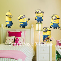 Graphic vinyl PVC Animal WallstickersDecal Despicable Me 2 Minion Wall Decal Sticker (5 in 1) [Top-Me]-TM1404