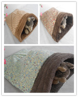 Wholesale New style cute cat sleeping bag pet bed high quality fabric with fleece three styles