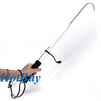 Wholesale Telescopic quot Retractable Fish Gaff Stainless Ice Sea Fishing Spear Hook Tackle