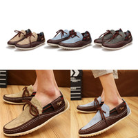 Lace-Up Men Fabric British Hot Men Suede Casual Lace Slip On Loafer Shoes Moccasins Driving Shoes