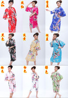 Wholesale 10pcs Women s Japanese Silk Kimono Robe Pajamas Nightgown Sleepwear Mixed Order