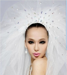 Wholesale 2013 Hot sale Rhinestones Veils Wedding Bridal Veils Multi Layer Netting White Ivory Bridal Accessories Long veils m s037