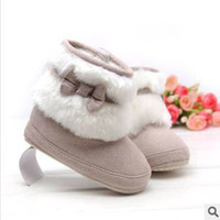 Cheap Girl winter baby Best Winter Fur boots baby