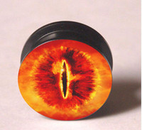 Wholesale Eye of the sauron acrylic screw fit ear plug ear stretcher flesh tunnel body jewerly mixing sizes TT41