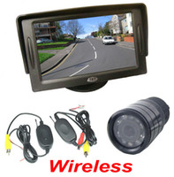 Wholesale DHL Wireless IR Night Vision Reverse Backup Camera quot TFT LCD SCREEN Monitor Car Rear View Kit