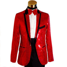 Wholesale new men s suits fashion New sequined star sequins Men singer emcee host wedding suits bridegroom suits man s suit T1047