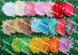 Wholesale Free USA ePacket CPAP quot shabby flower chiffon flower hair accessories solids and prints