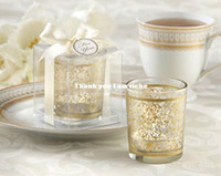 Wholesale Golden Decorative Pattern Candle Holder Favor Wedding Favor Wedding Gift Party Supplies Set of