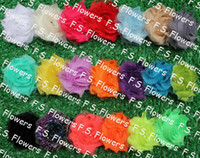 Wholesale Free USA ePacket CPAP quot shabby chiffon flower frayed chiffon flower hair accessories colors for selection