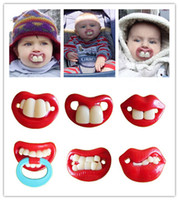 Wholesale Christmas gift Fashion Interest creative silicone pacifier funny nipple pacifier buck teeth rabbit teeth baby pacifier
