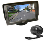 Wholesale DHL quot TFT Car LCD Monitor Mini Reversing Camera Degree Angle Car Rear View Kit