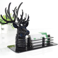 Cheap Deer business card seat commercial business card box quality office decoration decorations birthday gift male